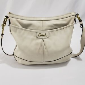 Coach Off White Leather Crossbody Bag Purse